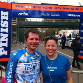 Jonathan and Amie ran the NYC marathon together