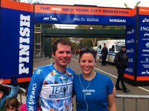 Jonathan and Amie ran the NYC marathon.